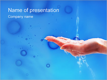 water powerpoint template & backgrounds id 0000000265, Modern powerpoint