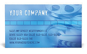 Movie Business Card Templates