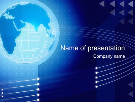 globe powerpoint template & backgrounds id 0000000274, Powerpoint templates