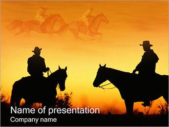 Cowboys I pattern delle presentazioni del PowerPoint