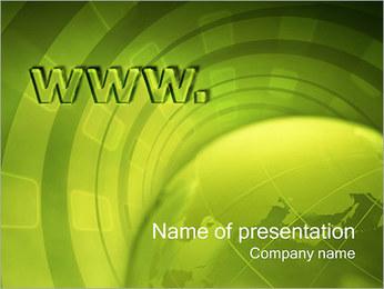 Global Net PowerPoint Template