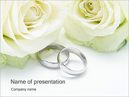 wedding rings powerpoint template & backgrounds id 0000000283, Powerpoint templates