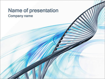 Light DNA PowerPoint Template