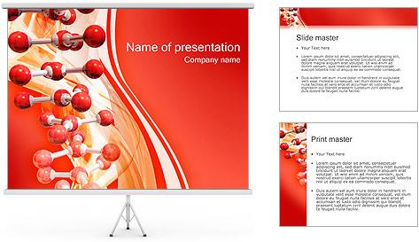 Molécules Modèles des présentations  PowerPoint