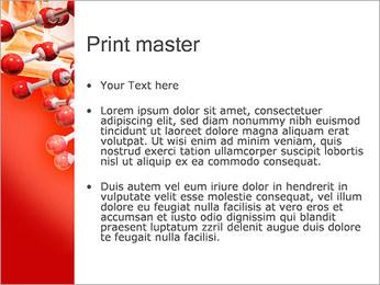 Molécules Modèles des présentations  PowerPoint - Diapositives 24