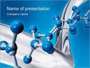 Molecola I pattern delle presentazioni del PowerPoint