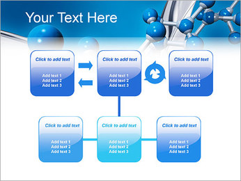 Molécule Modèles des présentations  PowerPoint - Diapositives 23