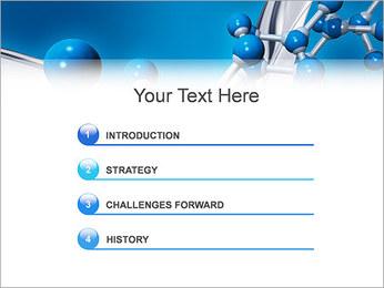 Molécule Modèles des présentations  PowerPoint - Diapositives 3