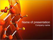 Benzen Molecule PowerPoint šablony