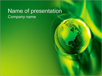 Green Globe PowerPoint Template