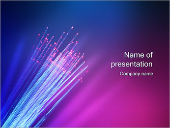Optic Fibre PowerPoint Template