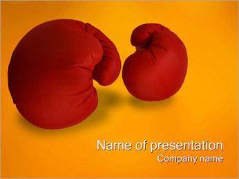 Boxerské rukavice PowerPoint šablony