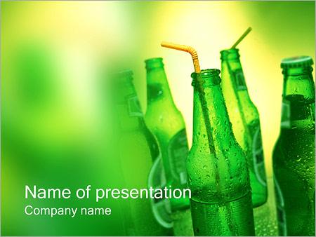 Leisure time powerpoint template smiletemplates bottles of beer powerpoint template toneelgroepblik Choice Image