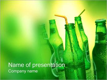 Bottiglie di birra I pattern delle presentazioni del PowerPoint