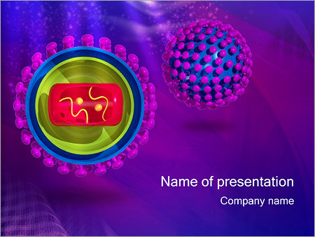influenza flu virus powerpoint template & backgrounds id, Modern powerpoint