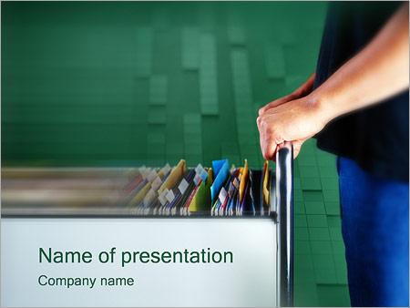 Document Management Powerpoint Template Backgrounds Id 0000000319