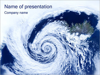 Cyclone PowerPoint Template - Slide 1