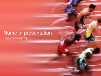 Runners PowerPoint Template