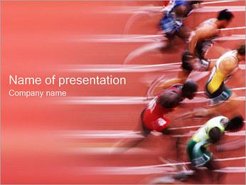 Löpare PowerPoint presentationsmallar
