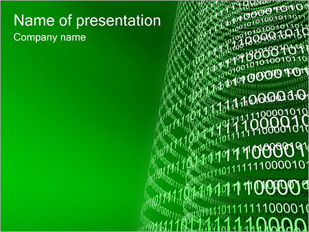 Binary Code PowerPoint Template & Backgrounds ID 0000000325 ...