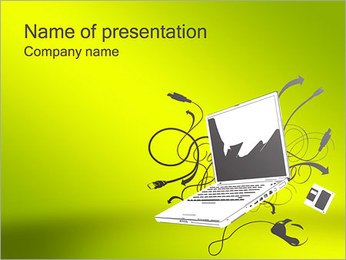 Notebook Computer PowerPoint Template