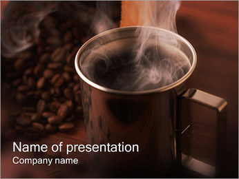 Mug with Coffee PowerPoint Template