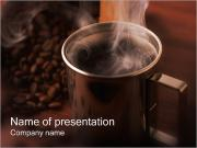 Mug with Coffee PowerPoint Templates