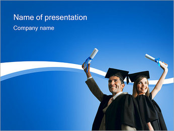 Graduated Students PowerPoint Template