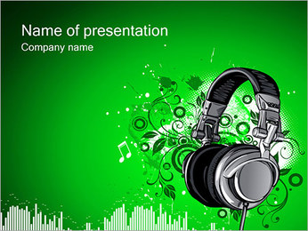 Headphones PowerPoint Template