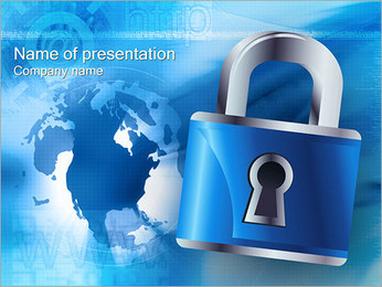 Site Security Sjablonen PowerPoint presentatie