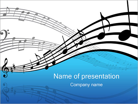 music powerpoint template & backgrounds id 0000000344, Modern powerpoint