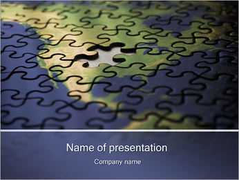 Puzzle of American Map PowerPoint Template