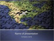 Puzzle of American Map PowerPoint Templates