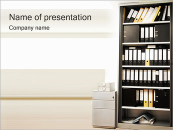 Paper Case Shelf Plantillas de Presentaciones PowerPoint