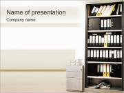 Papier Case Shelf Sjablonen PowerPoint presentaties
