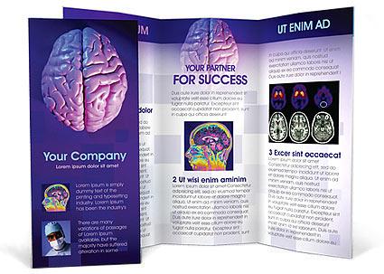 brain brochure template