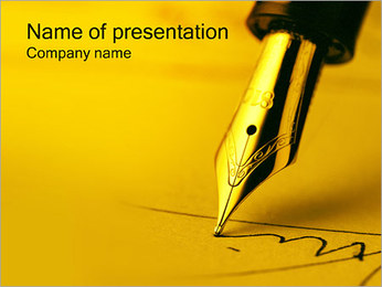 Pen PowerPoint Template