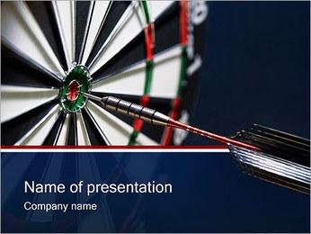 Jeu de fléchettes Modèles des présentations  PowerPoint