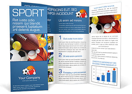 Sport Brochure Template  Design Id   SmiletemplatesCom