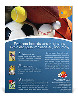 Sport Flyer Template Design Id 0000000381 Smiletemplates Com