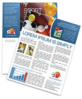 Sport Newsletter Template Design ID 0000000381