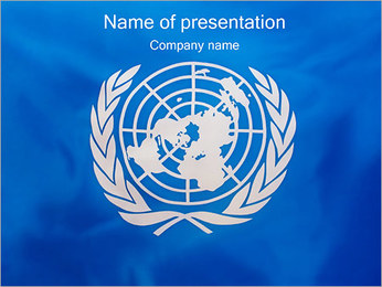 United Nations - UN Flag PowerPoint Template