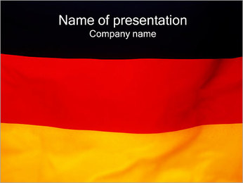 German Flag PowerPoint Template