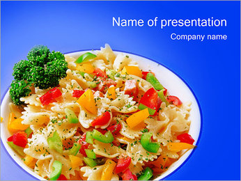 Vegetarian Food PowerPoint Template