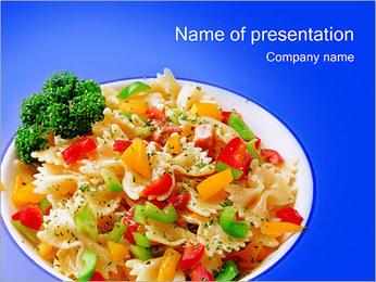 Vegetarian Food Sjablonen PowerPoint presentatie