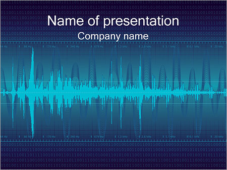 Digital Sound Powerpoint Template Backgrounds Id 0000000394