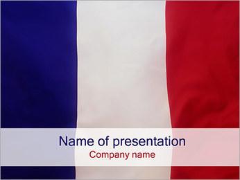 Bandiera della Francia I pattern delle presentazioni del PowerPoint