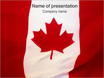 Canadian Flag PowerPoint Template