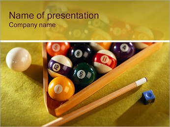 Game of Billiard PowerPoint Template