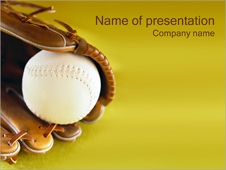 baseball powerpoint template & backgrounds id 0000000405, Powerpoint templates